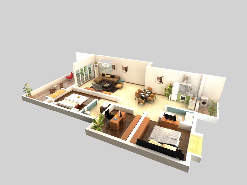 living room 057 3d model max 136713