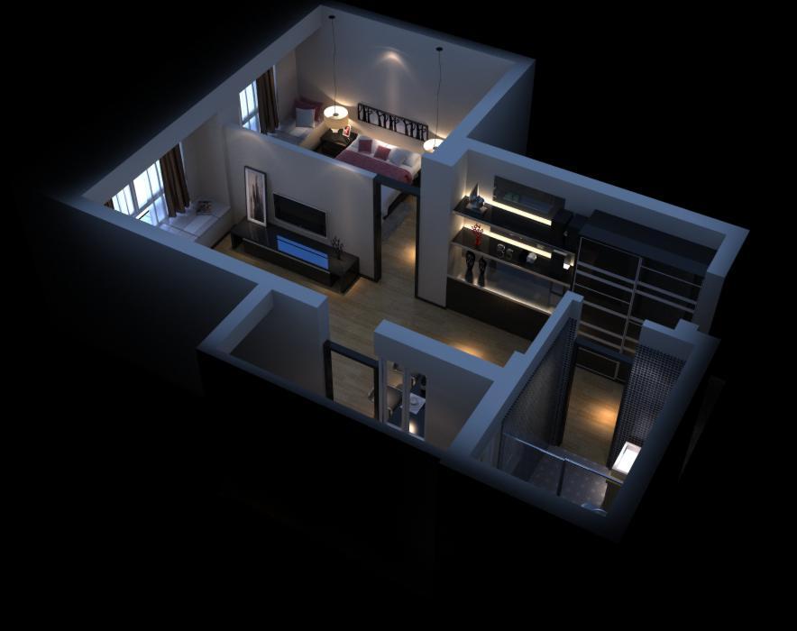 living room 058 3d model max 136715