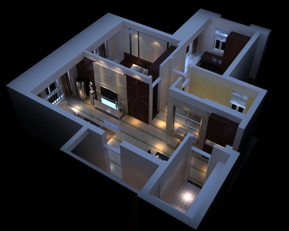 living room 059 3d model max 136717