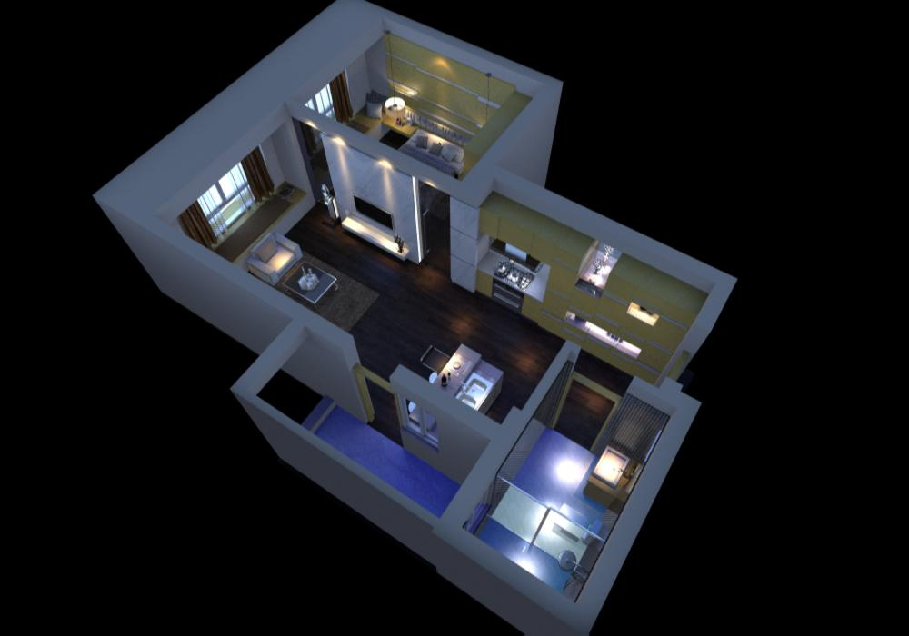 living room 060 3d model max 136719