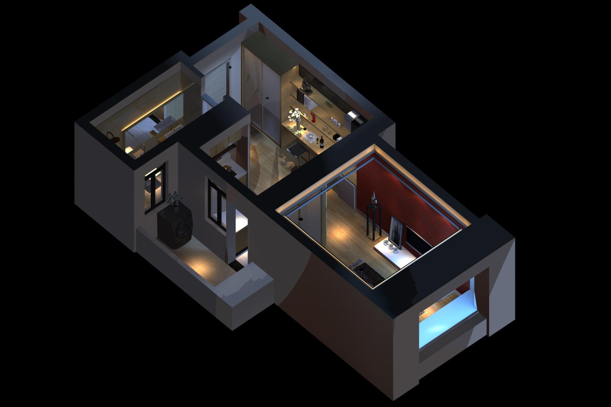 living room 061 3d model max 136721