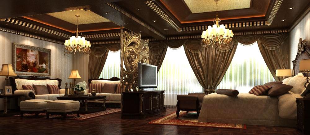living room 063 3d model max 136725