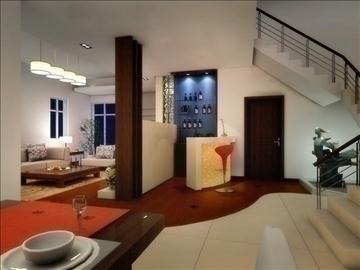 living room 10 3d model max 94397