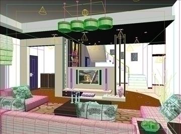 living room 10 3d model max 94398