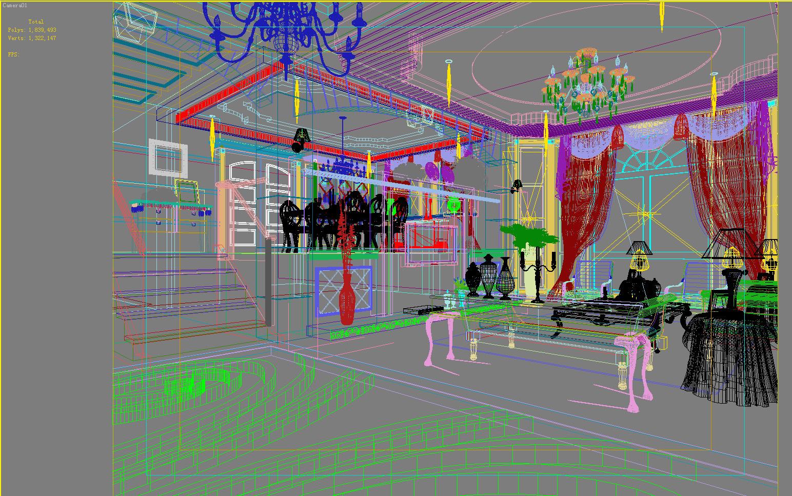 living room 1001 3d model max 121452