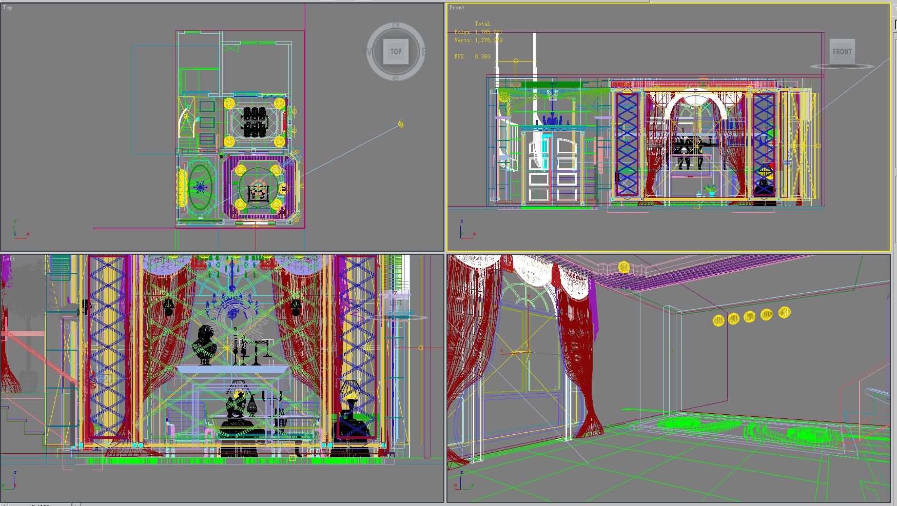 living room 1002 3d model max 121454