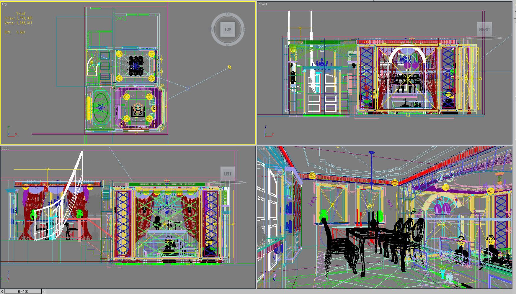 living room 1004 3d model max 121458