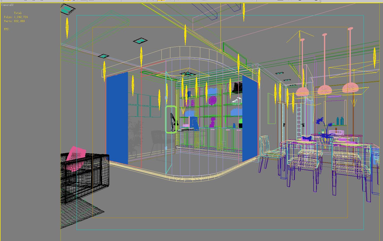 living room 1007 3d model max 121462