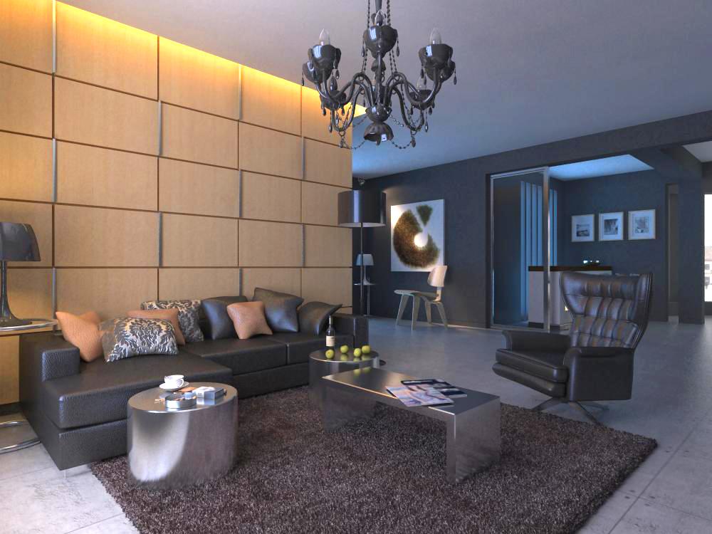 living room 1008 3d model max 121463