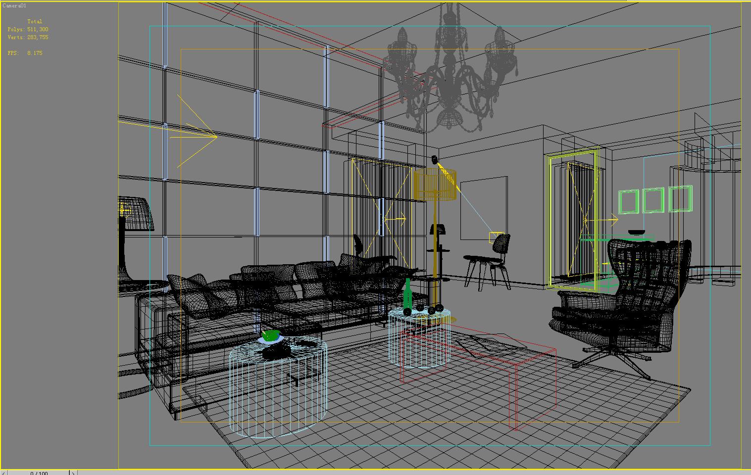 living room 1008 3d model max 121464