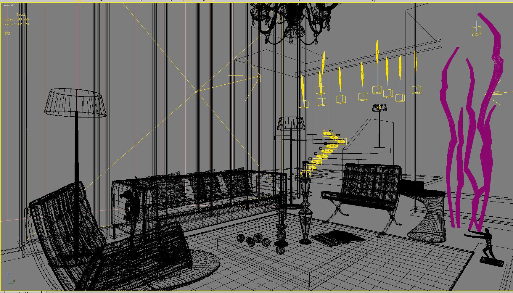 living room 1009 3d model max 121466