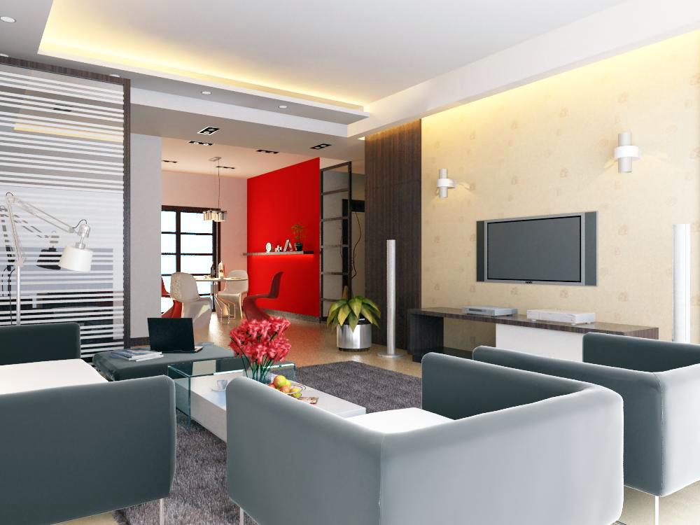 living room 1010 3d model max 121467