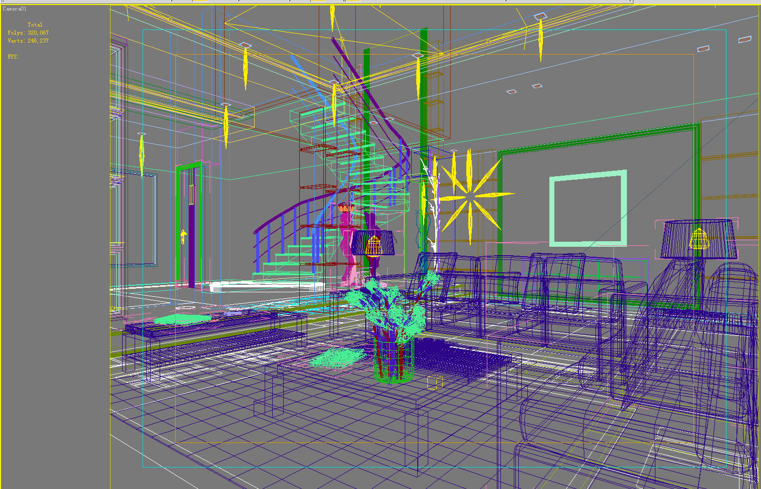living room 1014 3d model max 122352