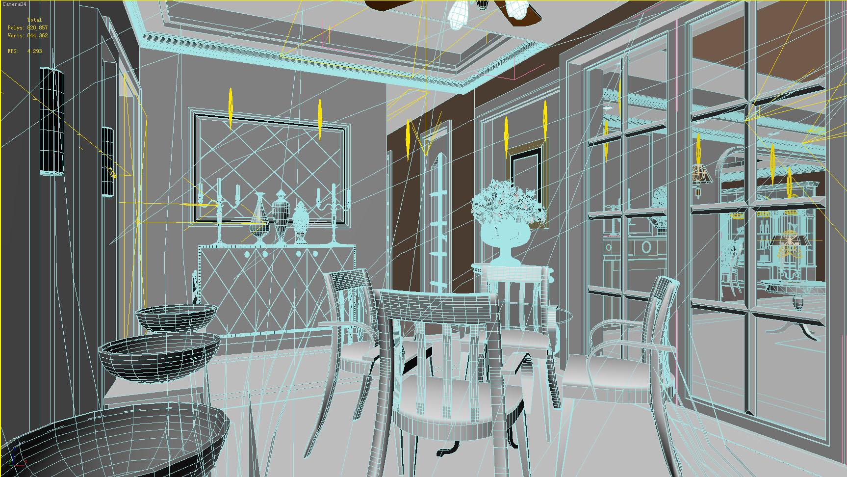 living room 1017 3d model max 122358