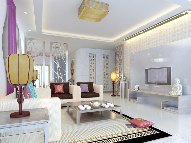 living room 1038 3d model max 122397