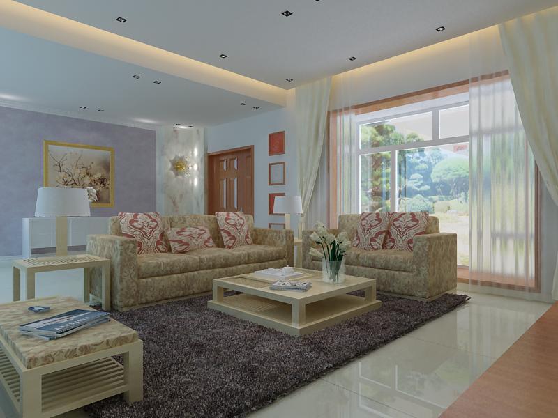 living room 1050 3d model max 122424
