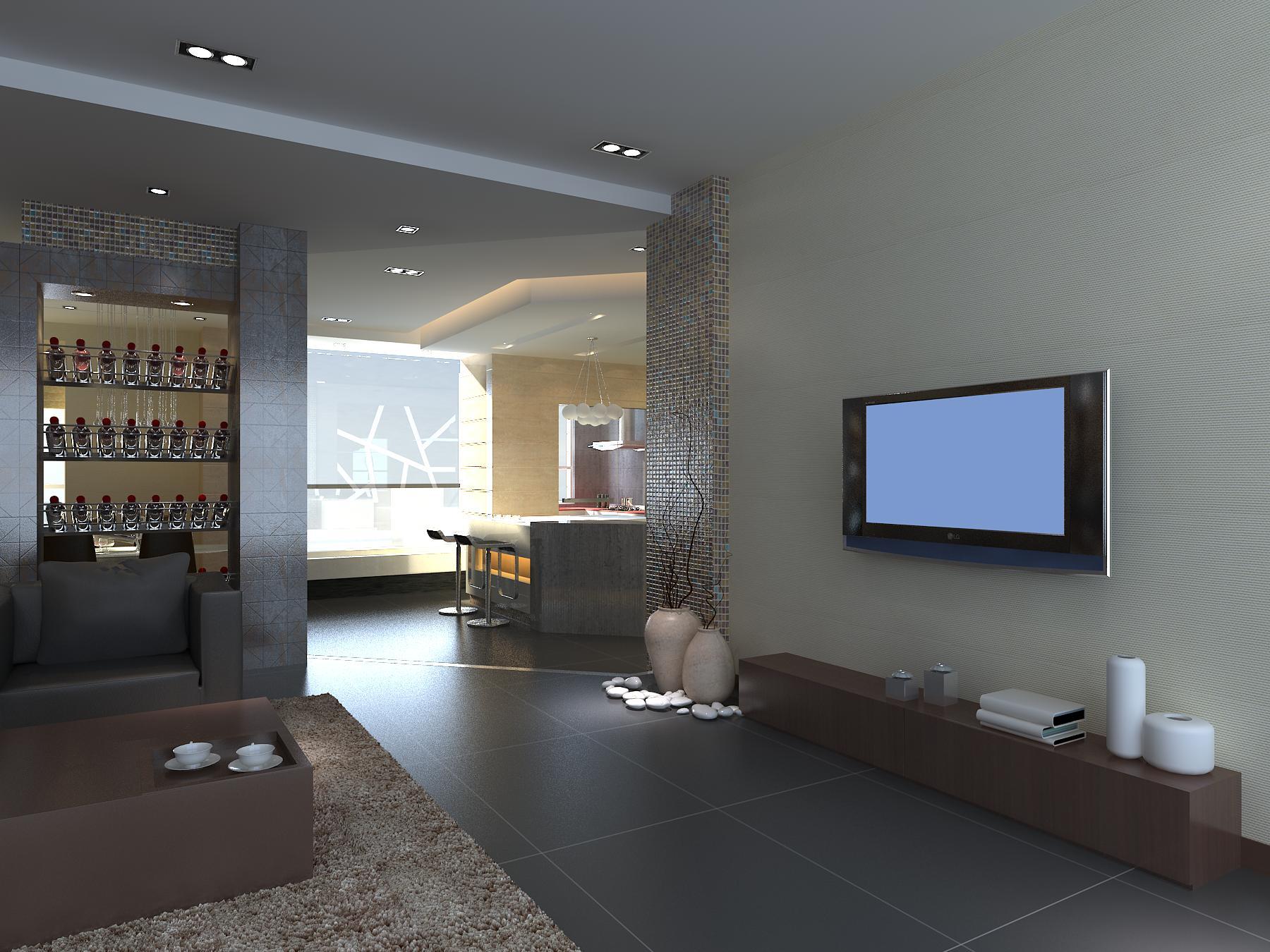 living room 1072 3d model max 122468
