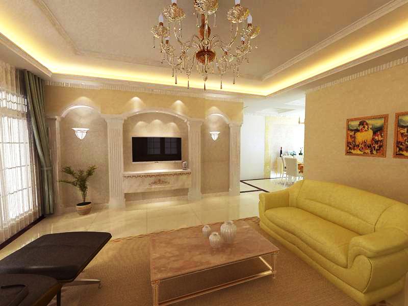 living room 1080 3d model max 122484