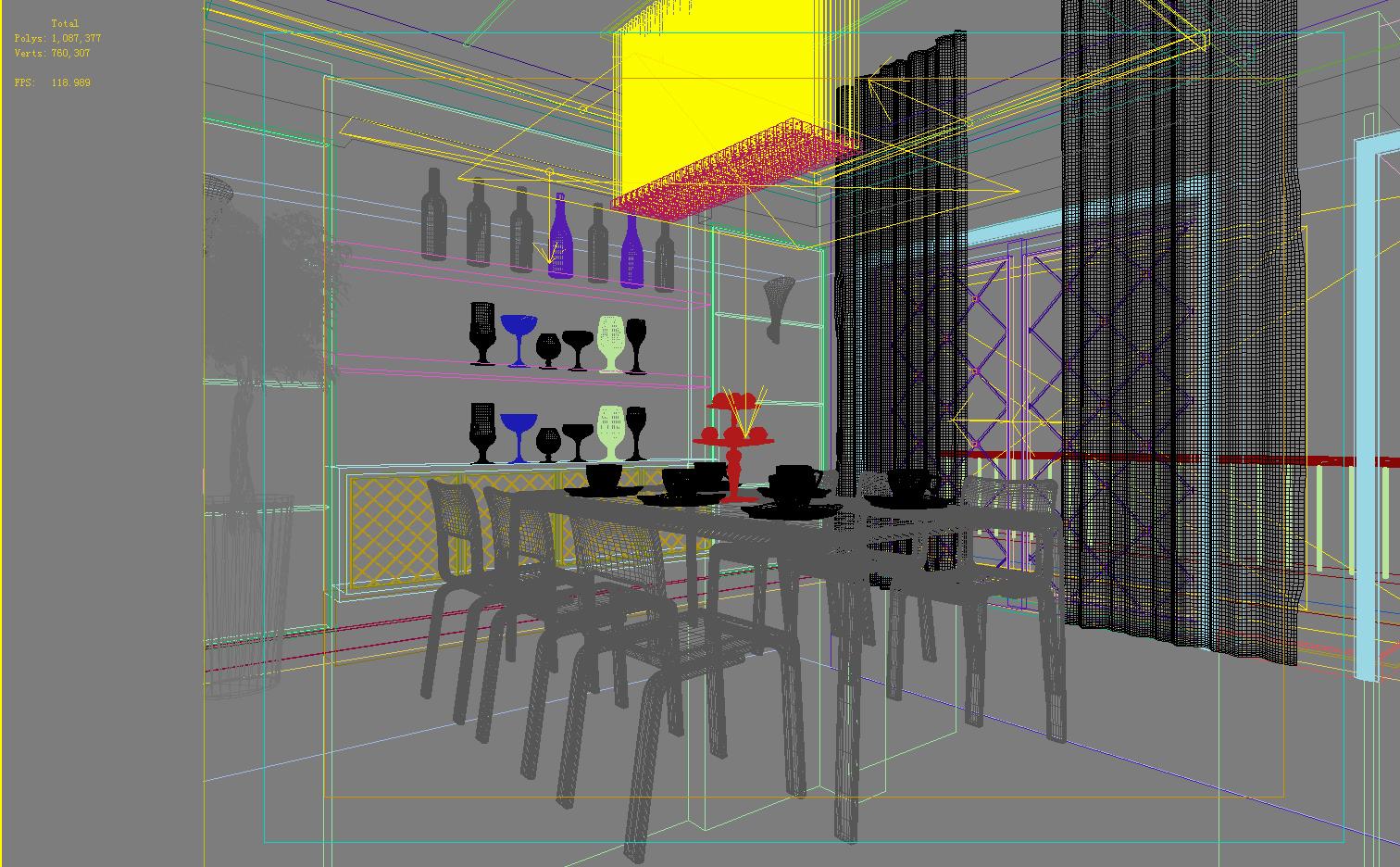 living room 1109 3d model max 122543