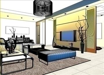 living room 14 3d model max 94420