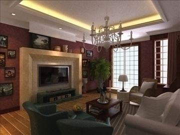living room 18 3d model max 94430