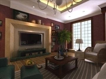 living room 18 3d model max 94431