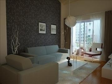 living room 19 3d model max 94435