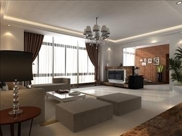 living room 24 3d model max 94620