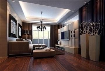 living room 29 3d model max 98561