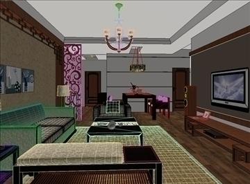 living room 30 3d model max 98565