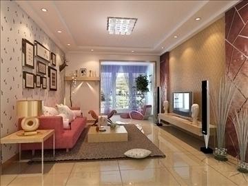 living room 31-1 3d model max 98576