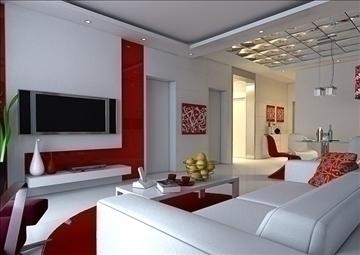 living room 34 3d model max 98585