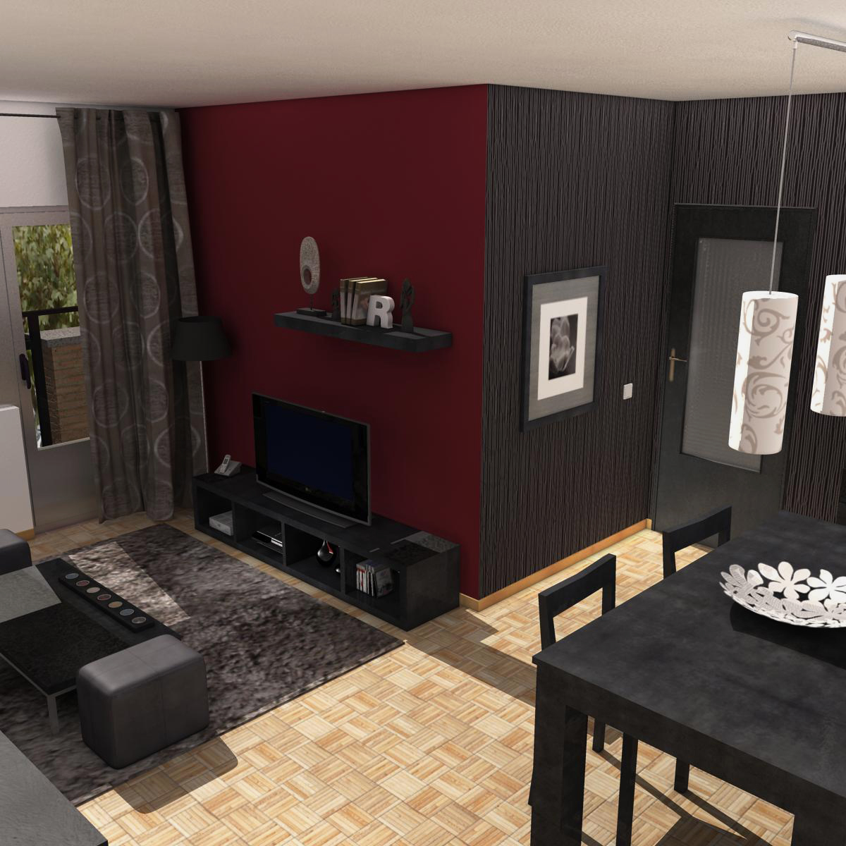 living room 3d model 3ds max fbx c4d ma mb obj 159609
