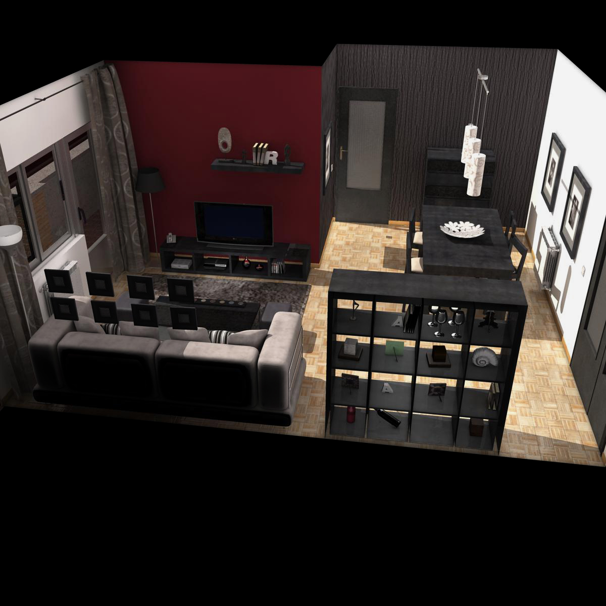 dzīvojamā istaba 3d modelis 3ds max fbx c4d ma mb obj 159612