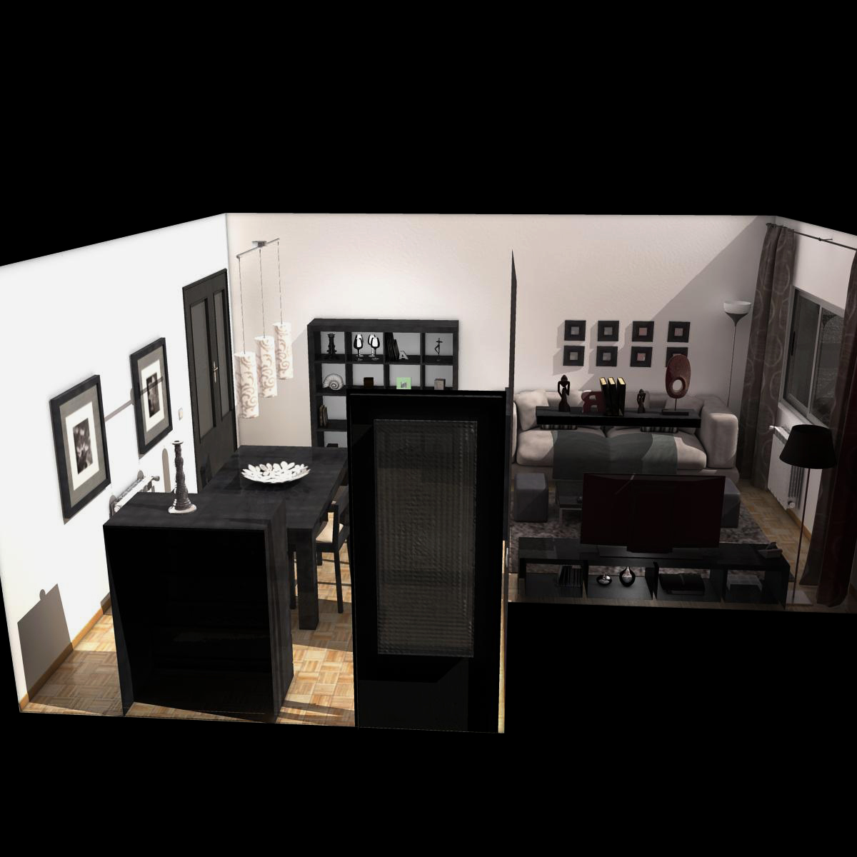 dzīvojamā istaba 3d modelis 3ds max fbx c4d ma mb obj 159613