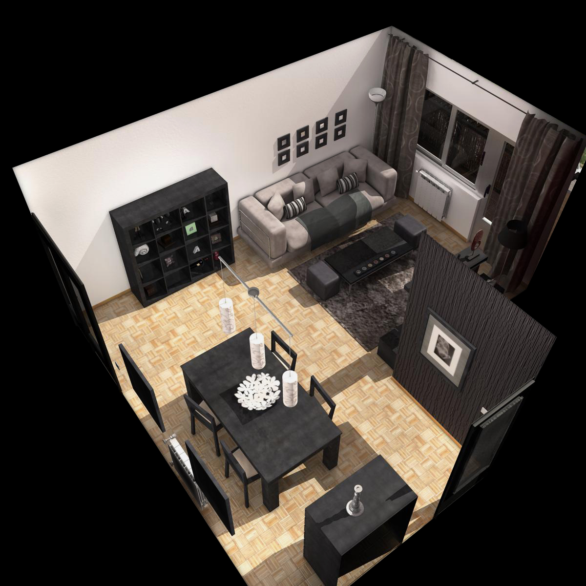 living room 3d model 3ds max fbx c4d ma mb obj 159614
