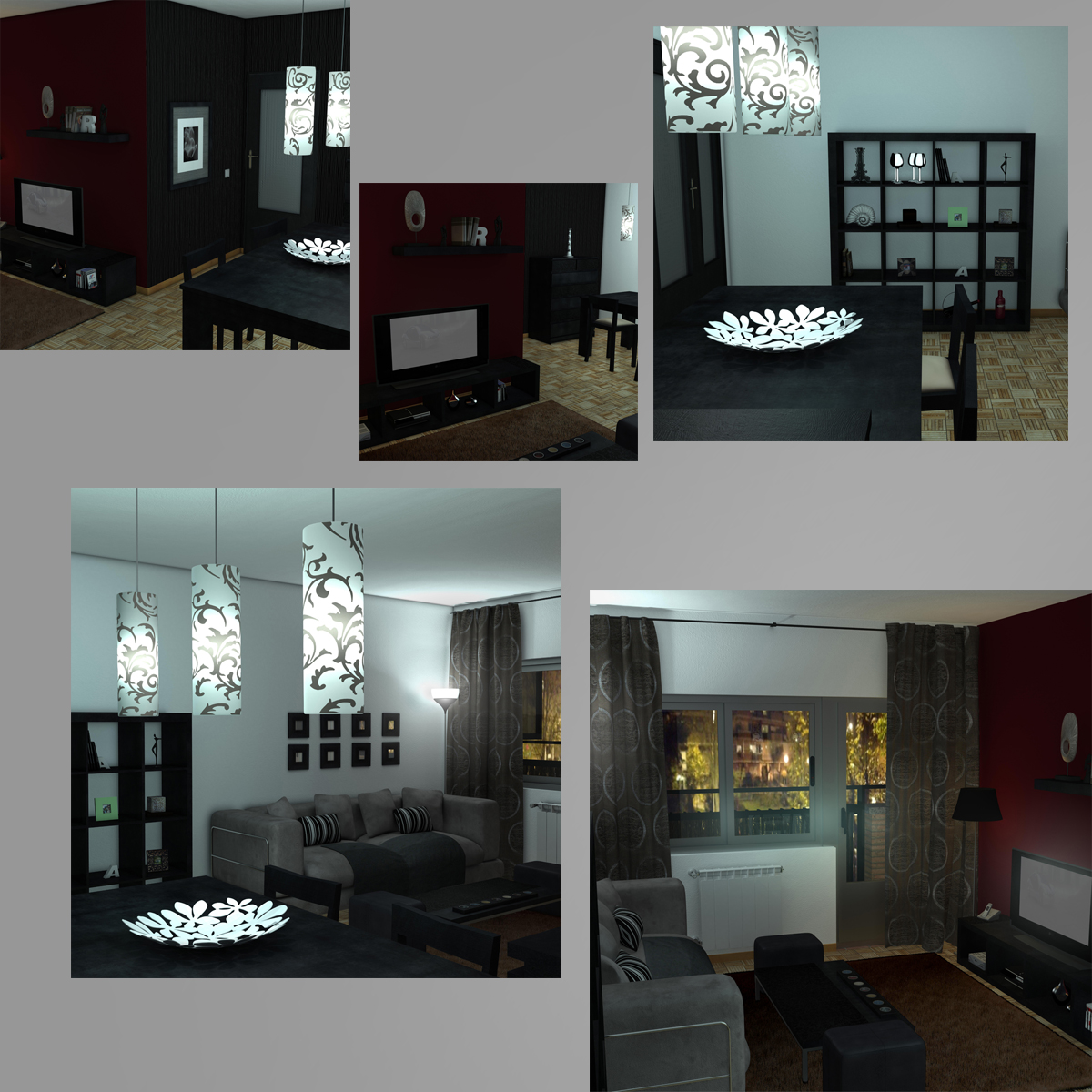 living room 3d model 3ds max fbx c4d ma mb obj 159616