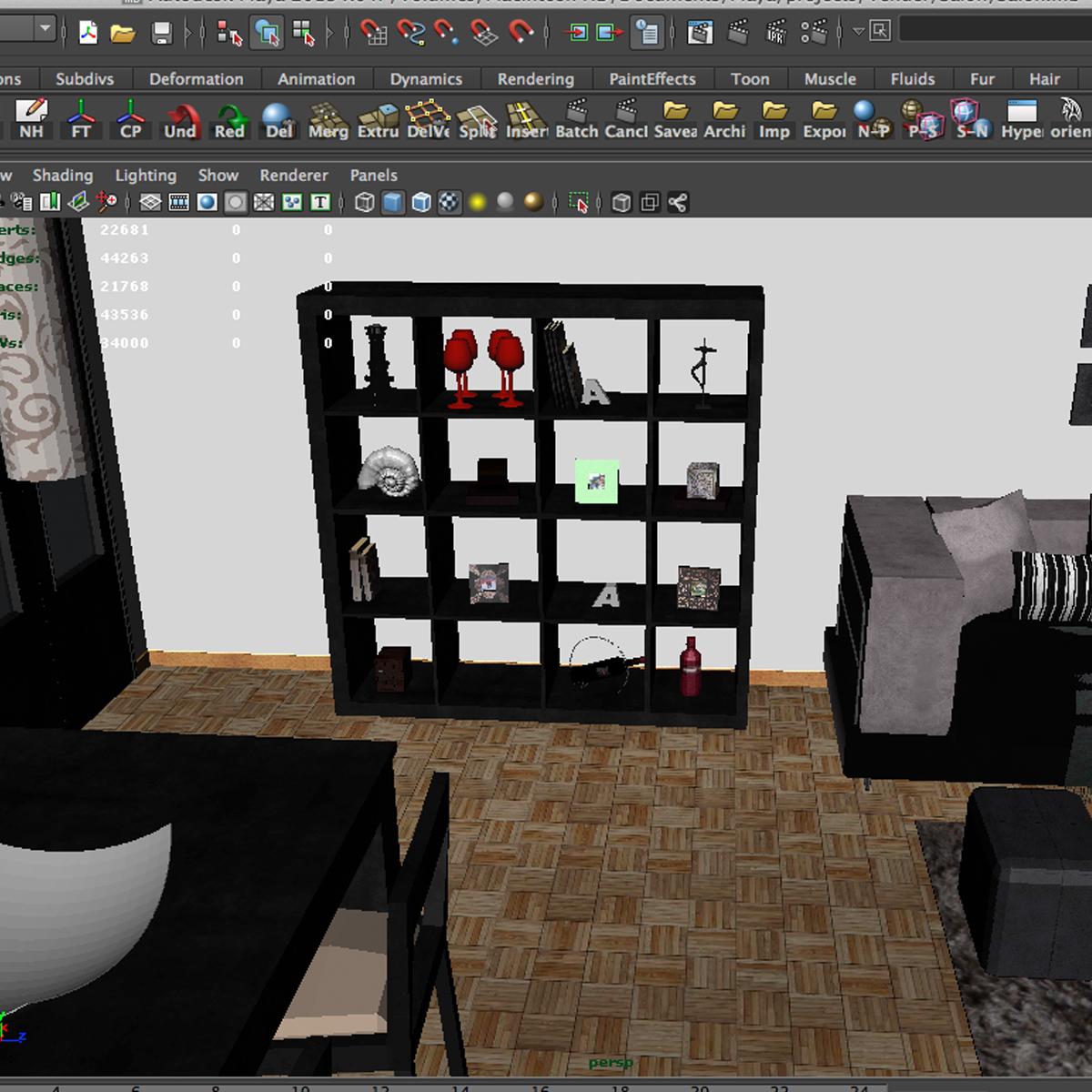 dzīvojamā istaba 3d modelis 3ds max fbx c4d ma mb obj 159619