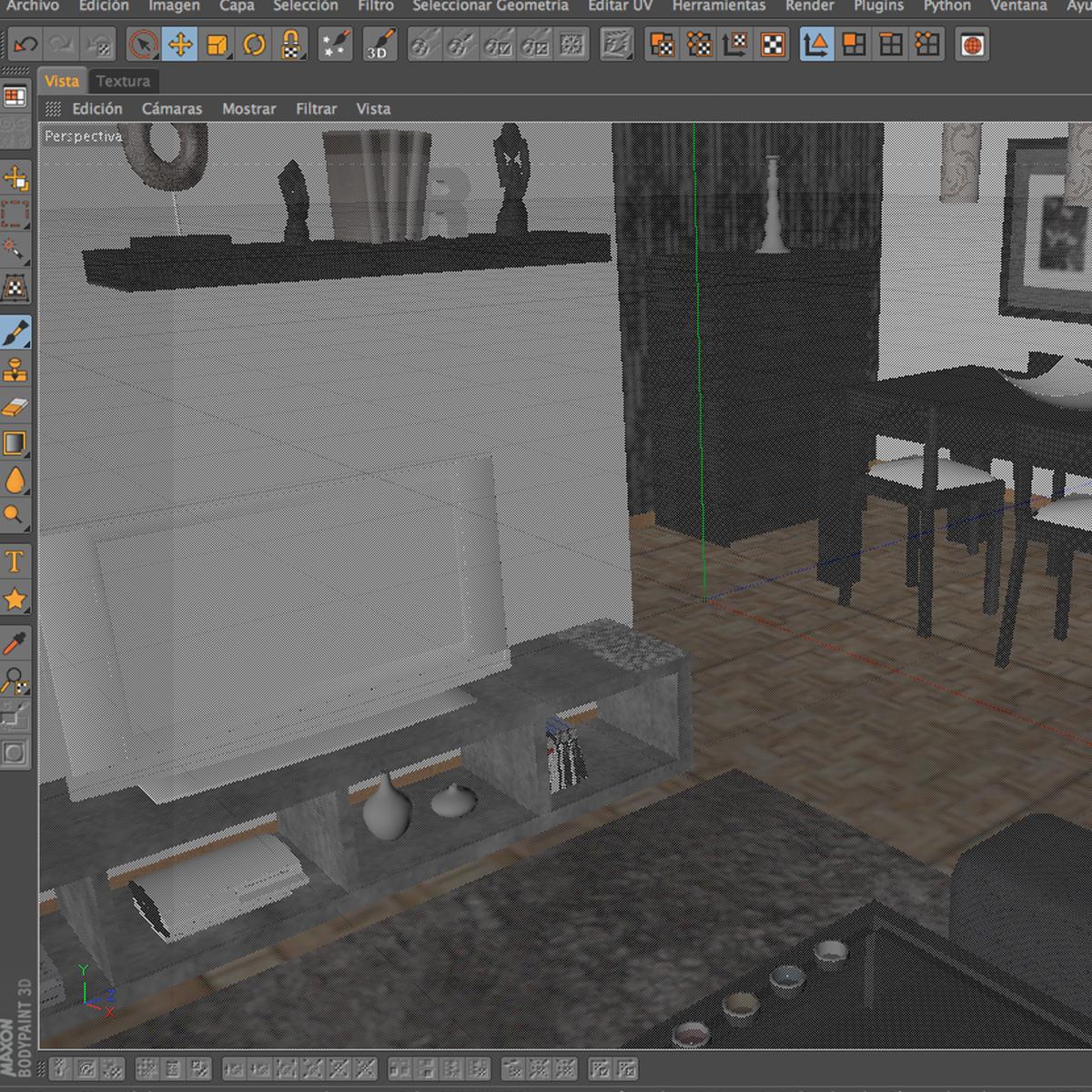 dzīvojamā istaba 3d modelis 3ds max fbx c4d ma mb obj 159620