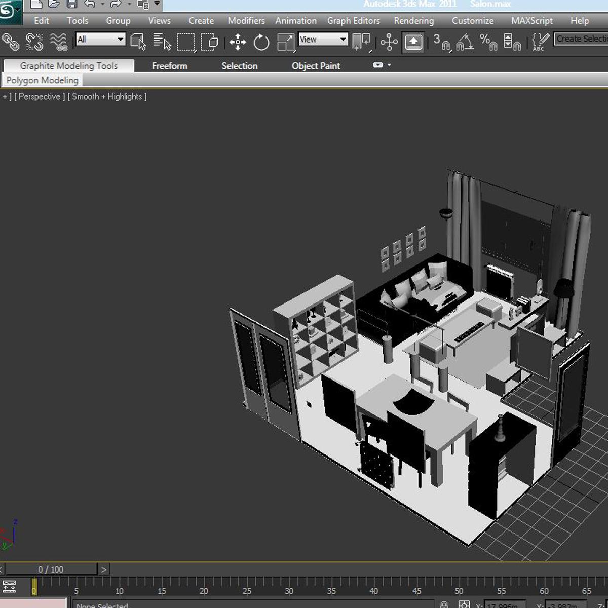 dzīvojamā istaba 3d modelis 3ds max fbx c4d ma mb obj 159621