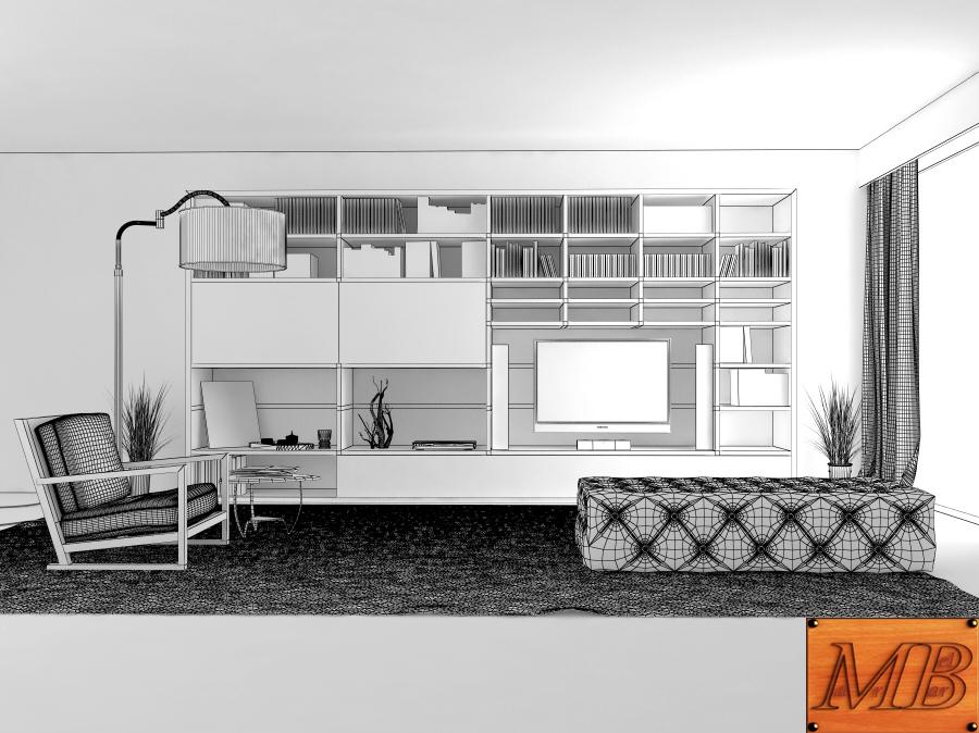 living room 3d model max fbx c4d obj 163411