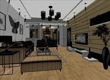 living room 41 3d model max 98605