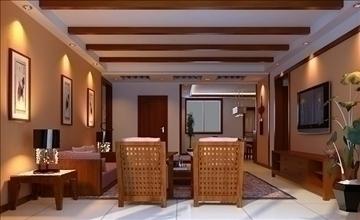 living room 53 3d model max 98636