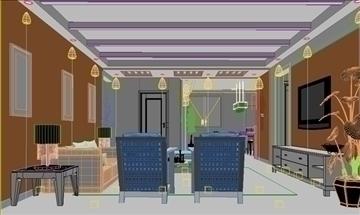 living room 53 3d model max 98638