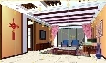living room 53 3d model max 98639