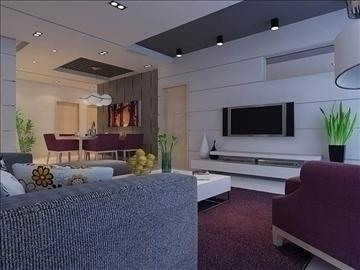 living room 55 3d model max 98647