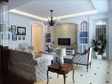 living room 58 3d model max 98717