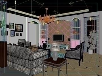 living room 58 3d model max 98718