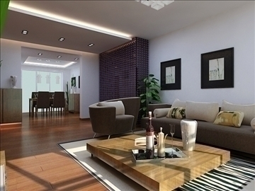 living room 60 3d model max 98744