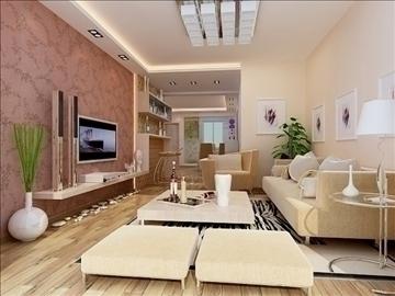 living room 61 3d model max 98746